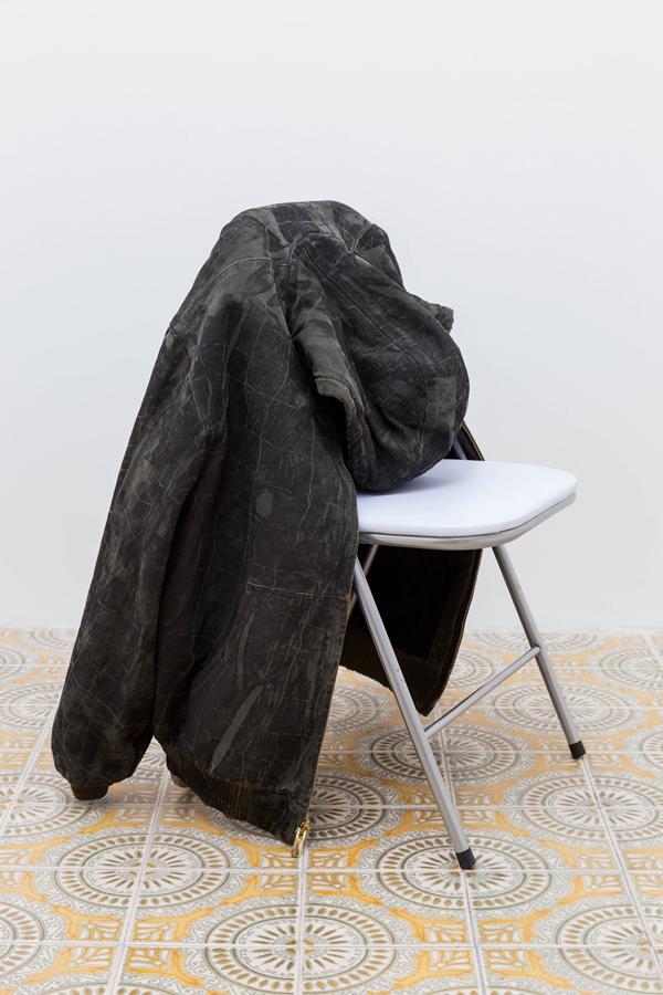 ink on Carhartt jacket var dim