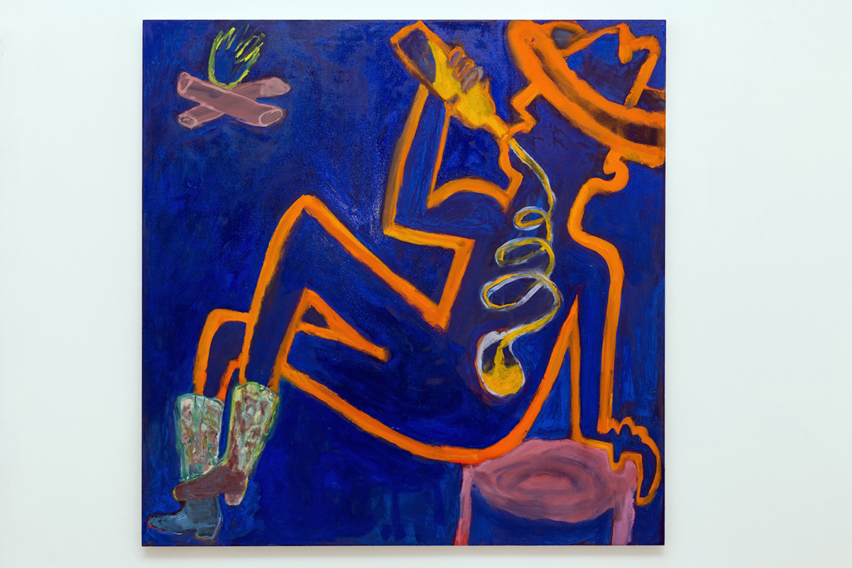 oil on canvas 147 x 147 cm