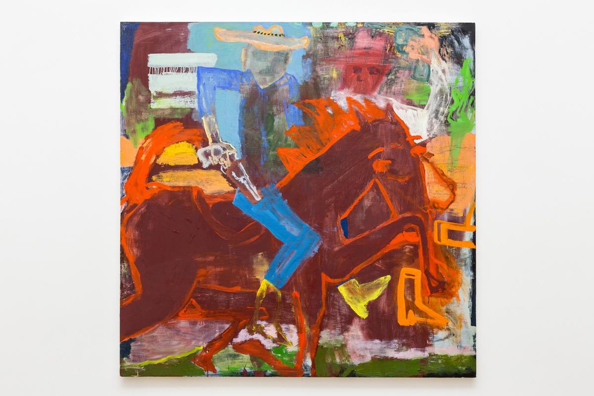 oil on wood panel 122 x 122 cm