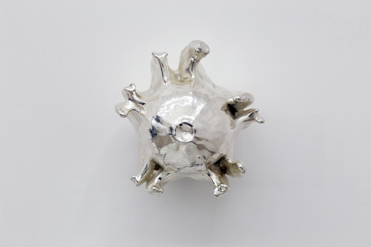 argento, rame 15 x 15 x 12 cm